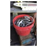 Bucket of horseshoes