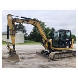 2014 CAT 308E2 CR MINI EXCAVATOR