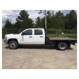 2013 CHEVY 3500 S/A FLATBED TRUCK