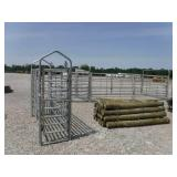 NEW 90 DEGREE GALV CATTLE SWEEP SYSTEM