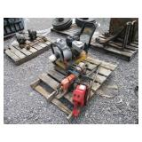 LOT OF MISC CHAINSAWS & TITAN INDUSTRIAL TRASH
