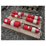 LOT OF (6) FIRE EXTINGUISHERS