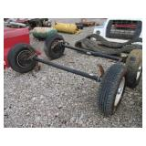 (2) TRAILER AXLES W/TIRES MOUNTED