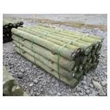 (1) NEW BUNDLE OF WOODEN FENCE POSTS