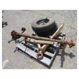 LOT OF TRAILER PARTS