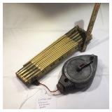 Lufkin Extension Ruler & Stanley Chalk Line