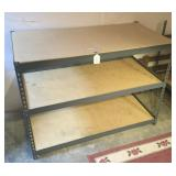 Metal Shelving w/ 3 Shelf Tops