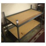 Metal Shelving w/ 2 Shelf Tops