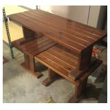 Pine Coffee Table & 2 End Tables