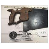 """RARE"" Pre 1870 Henshaw Cast Steel Saw"