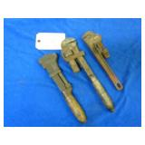 ANTIQUE ADJUSTABLE WRENCHES