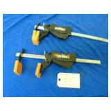 PAIR OF EASY HOLD E-Z BAR CLAMPS