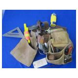 LEATHER TOOL BAG WITH TOOLS