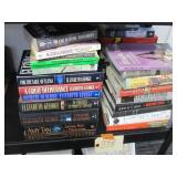 4 STACKS OF MURDER MYSTERY BOOKS AND OTHER THEMES