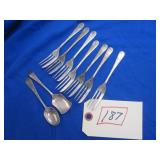 ANTIQUE SILVERPLATE FORKS AND SPOONS