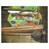 ASSORTED PLUMBING SUPPLIES AND TABLE SAW PARTS