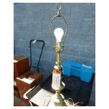 BRASS COLORED TABLE LAMP