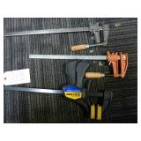 THREE WOOD WORKING CLAMPS