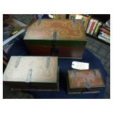 SET OF THREE MODERN BOXES