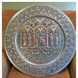 Repousse wall plate