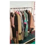 Clothing rack with vintage clothes