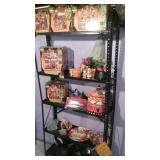 Shelf of Halloween decor