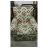 Modern  print fabric easy chair from estate