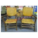 pair of vintage hickory armchairs - nice