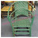 older - vintage hickory rocker (green)