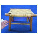 vintage hickory foot stool