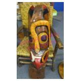 large hand carved african mask (40in tall)