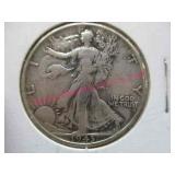 1943-P walking liberty silver half-dollar