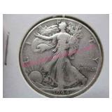 1944-P walking liberty silver half-dollar