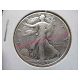 1945-P walking liberty silver half-dollar