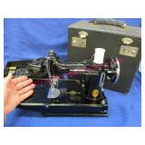 """old """"singer featherweight"""" sewing machine in case"""