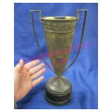 """old 1928 trophy """"A.E. Cartmell"""" sales (12in tall)"""