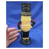 "vintage cast iron ""mr. peanut"" bank (8in tall)"