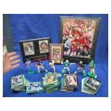sports memorabilia lot (olajuwon-shaq-cards-etc)