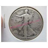 1941-P walking liberty silver half-dollar