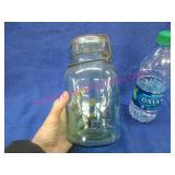 old 1qt atlas canning jar with lid