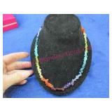 sterling silver multi-color beaded necklace