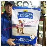 "new dog food ""calif. natural"" (rice-chicken) 26-lb"