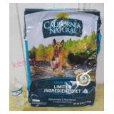 "new dog food ""calif. natural"" (salmon-peas) 26-lb"