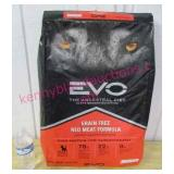 """new dog food """"evo red meat"""" 28.6-lbs ($90 retail)"""
