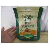 "new bag ""pill pockets"" cheese flavor ($18 retail)"