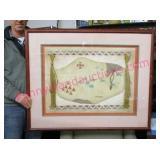 larger framed southwestern artwork - signed