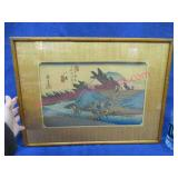 old japanese woodblock print - colored