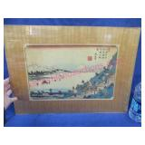 old japanese woodblock print - colored (no frame)