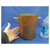 nice heavy copper ice / wine bucket