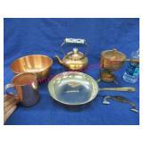vintage copper & other metal pieces
